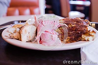 Quiche with ham