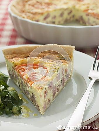 Free Quiche Lorraine With Watercress Salad Stock Photo - 5624160