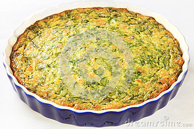 Quiche with Spinach and Tuna