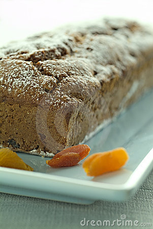 Quick bread with dried apricots
