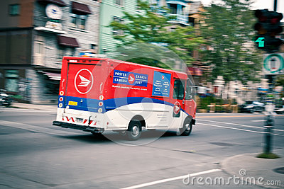 Quick delivery - Canadian Post Editorial Photography