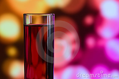 Quick drink glass filled with strong alcohol