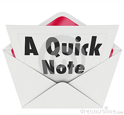 Quick Note Words Message Letter Message News Update