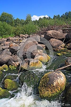 Quick river flow