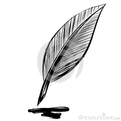 Quick sketch feather