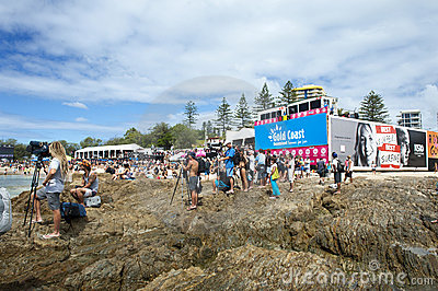 Quicksilver Pro & Roxy Pro 2011 Editorial Stock Image