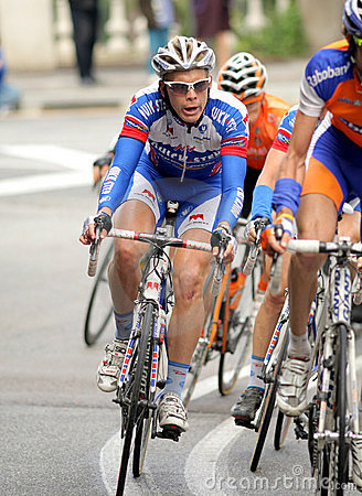 Quickstep s cyclist Belgian Julien Vermote Editorial Stock Image
