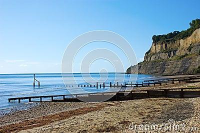 Quiet Beach below Cliffs