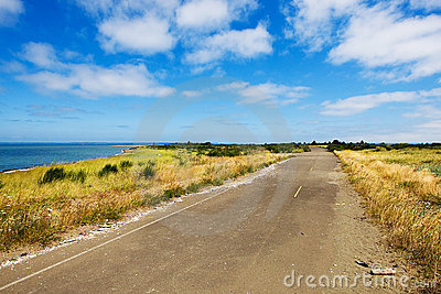 Quiet, country road at the beach