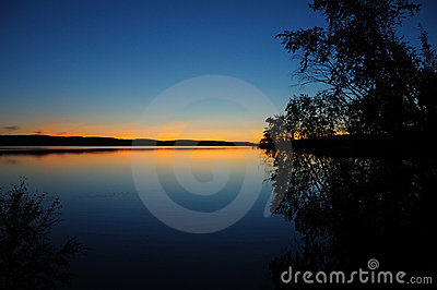 Quiet Karelian sunset