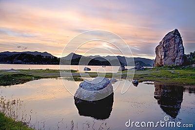 Quiet lake Aha