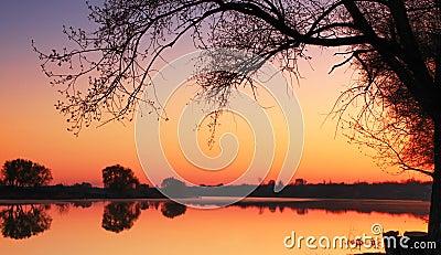 Quiet spring sunrise