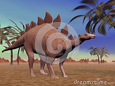 Quiet stegosaurus
