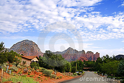 Quiet street in Sedona