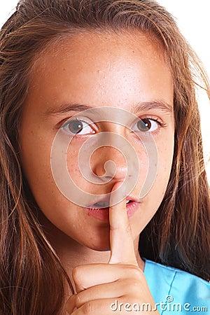 Quieting teen girl