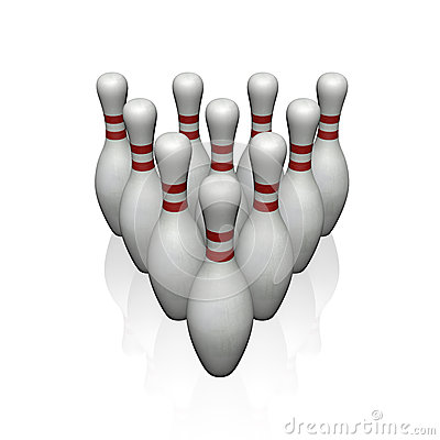 Quilles de bowling image libre de droits image 31289606 for Decoration quille de bowling