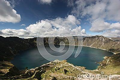 Quilotoa λιμνών