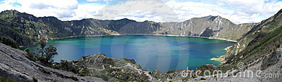 Quilotoa volcanic lake