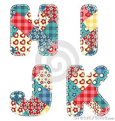 Quilt alphabet.