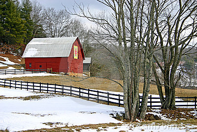 Quilt Barn in Winter