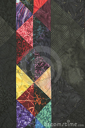 Quilt Block with side copy space