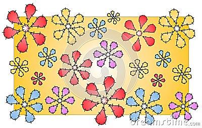Quilt Flowers Pattern Stitches