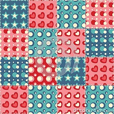 Quilt seamless pattern 5