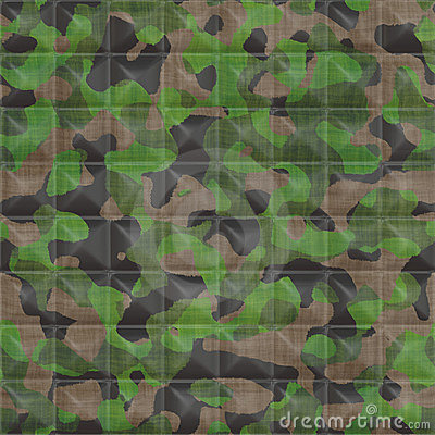 Quilted Camouflage Fabric