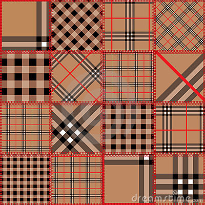 Quilting design of classic tartan