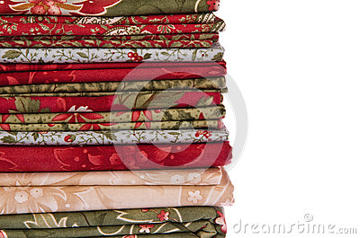 Quilting fabrics in different colors