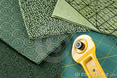 Quilting in green
