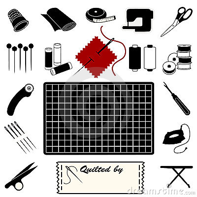 Free Quilting Icons Royalty Free Stock Photos - 9252158