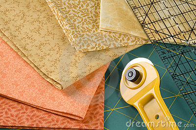 Quilting in Orange