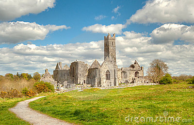 Quin abbey in Ireland