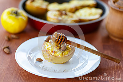 Quince baked with cheese
