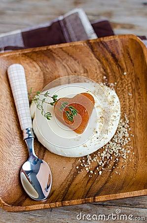 Quince Marmelade And Mozzarella Cheese