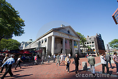 Quincy market in Boston during day Editorial Stock Photo