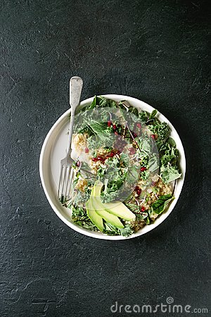 Free Quinoa Salad With Kale Stock Photography - 110686882