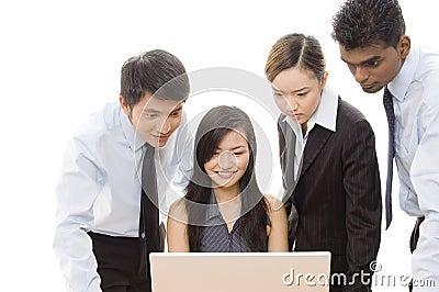 Équipe 1 d affaires