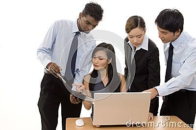 Équipe 3 d affaires