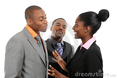 Équipe d affaires ayant une discussion