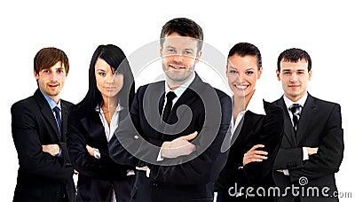 Équipe d affaires d isolement