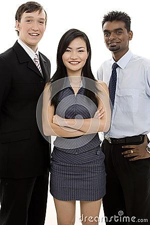 Équipe diverse 4 d affaires