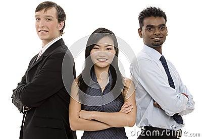 Équipe diverse 5 d affaires