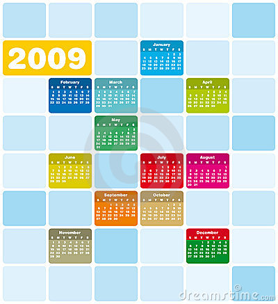 Quirky & colorful calendar 200
