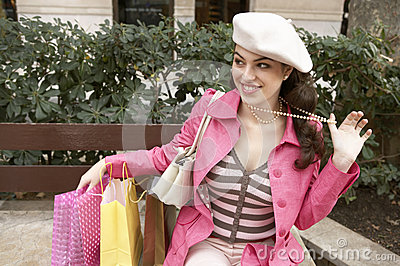 Quirky Woman With Shopping