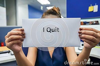 Quit the job Stock Photo