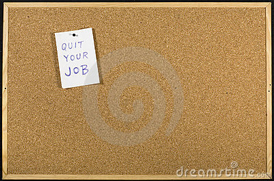 Quit your job message