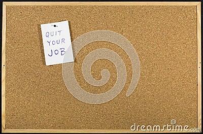 Quit your job message