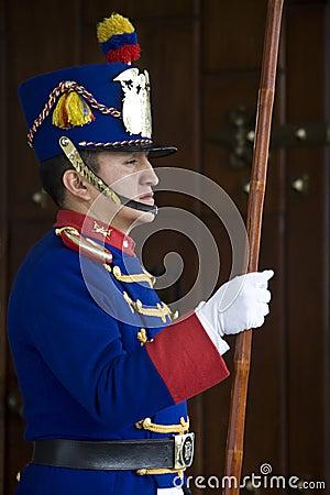 Quito in Ecuador - Presidential Palace Editorial Photography